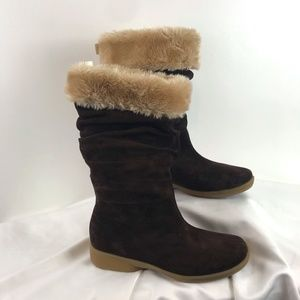 Hush Puppies Chocolate Brown Suede Boots